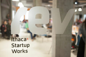 The 2014 kickoff event for eLab, Cornell's student business accelerator, at Rev: Ithaca Startup Works.